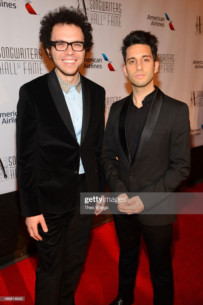 Ian Axel (L) and Chad Vaccarino of A Great Big World attends the Songwriters Hall of Fame 45th Annual Induction and Awards at Marriott Marquis Theater on June 12, 2014 in New York City.