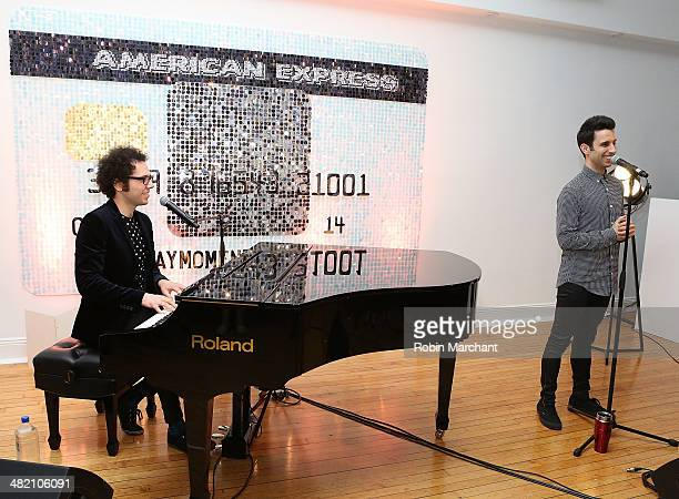 Ian Axel and Chad Vaccarino of A Great Big World perform at American Express #EveryDayMoments at Home Studios on April 2 2014 in New York City