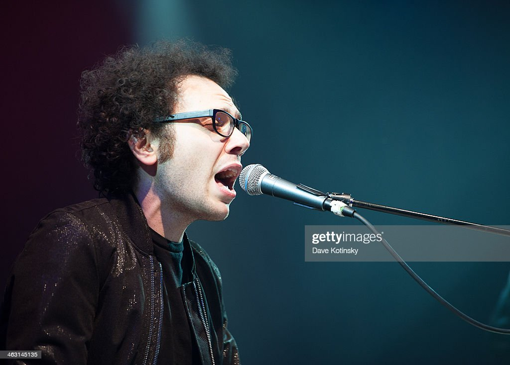 Ian Axel of A Great Big World performs at Highline Ballroom on January 16, 2014 in New York City.