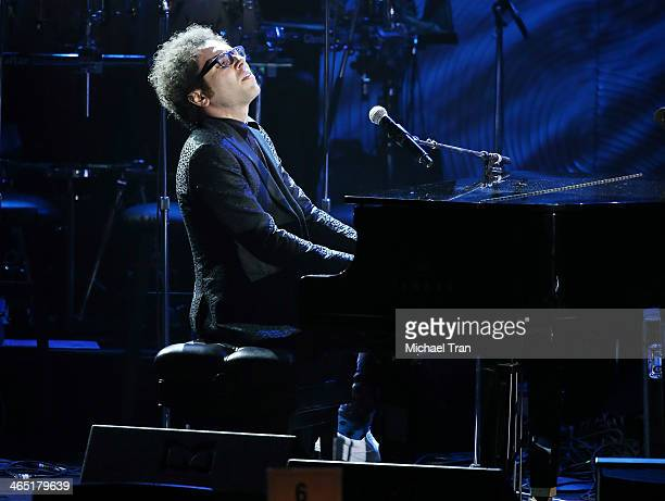 Ian Axel of A Great Big World performs onstage during the Clive Davis and The Recording Academy present The Annual PreGRAMMY Gala held at The Beverly...