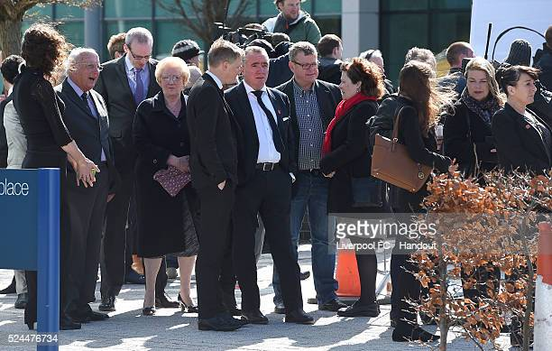 Ian Ayre C.E.O. Of Liverpool F.C. And Craig Evans Head of P.R. Of Liverpool F.C. Arrives for the hearing of the verdict of unlawful killing at the...