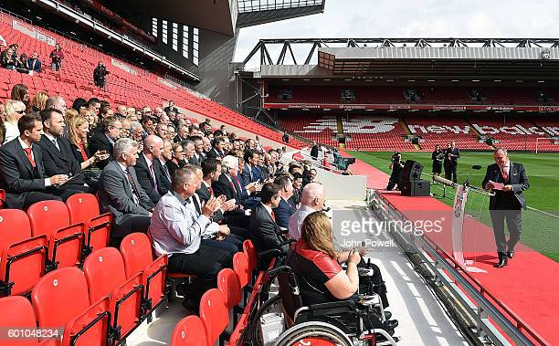 Ian Ayre, Chief Executive of Liverpool at the opening event at Anfield on September 9, 2016 in Liverpool, England.