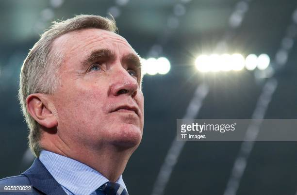 Ian Ayre of1860 Muenchen looks on during the Second Bundesliga match between TSV 1860 Muenchen and VfB Stuttgart at Allianz Arena on April 5, 2017 in...