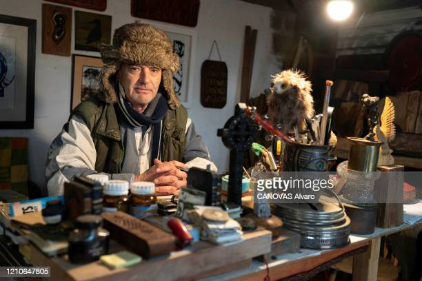 Ian Bailey suspected of the murder of Sophie Toscan du Plantier in 1996 is photographed for Paris Match at home in Skull in IRELAND on January 27 2020