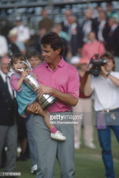 Ian BakerFinch of Australia holds his daughter and the Claret Jug following his victory during The 120th Open Championship held at Royal Birkdale...