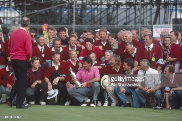 Ian BakerFinch of Australia poses with marshalls and the Claret Jug following his victory during The 120th Open Championship held at Royal Birkdale...