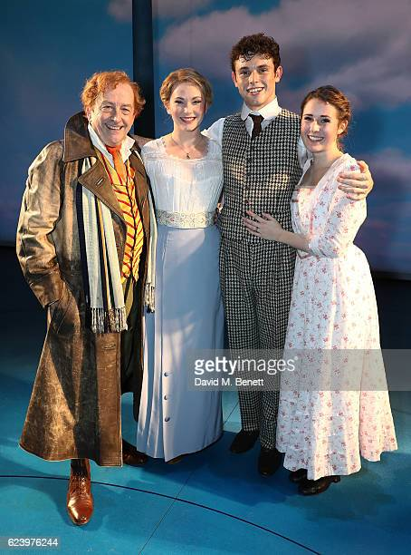 """Ian Bartholomew, Emma Williams, Charlie Stemp and Devon-Elise Johonson bow at the curtain call during the press night performance of """"Half A..."""