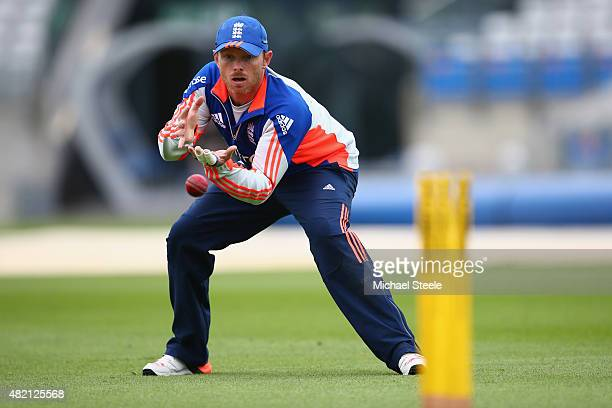 Ian Bell during a nets session ahead of the 3rd Investec Ashes Test match between England and Australia at Edgbaston on July 27 2015 in Birmingham...
