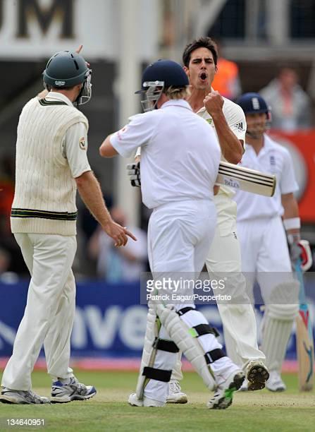 Ian Bell is out lbw Mitchell Johnson England v Australia 3rd Test Edgbaston Jul 09