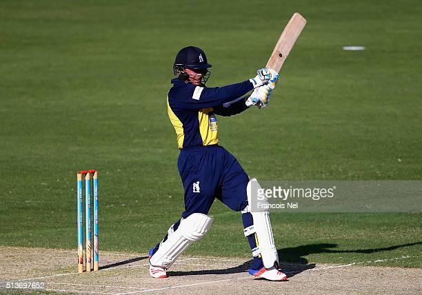 Ian Bell of Birmingham Bears bats during the T20 match between Birmingham Bears and West Indies at Dubai International Cricket Stadium on March 4...