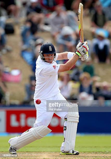 Ian Bell of England bats during day two of the second Test match between New Zealand and England at Basin Reserve on March 15 2013 in Wellington New...