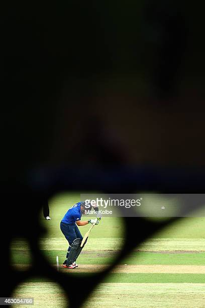 Ian Bell of England bats during the ICC Cricket World Cup warm up match between England and the West Indies at Sydney Cricket Ground on February 9...