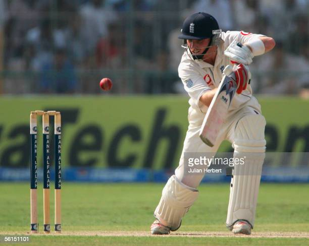 Ian Bell of England in action on day two of the 1st Test Match between England and Pakistan on November 13 2005 in Multan Pakistan