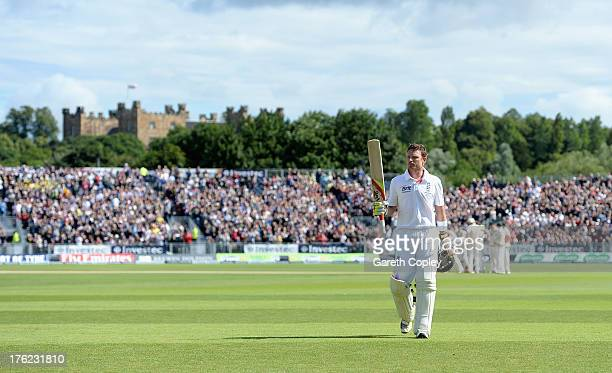 Ian Bell of England leaves the field after being dismissed by Ryan Harris of Australia during day four of 4th Investec Ashes Test match between...