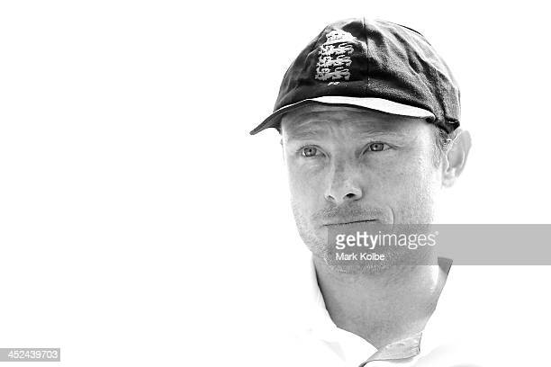 Ian Bell of England looks on before the start of play during day one of the tour match between the Chairman's XI and England at Traeger Park on...