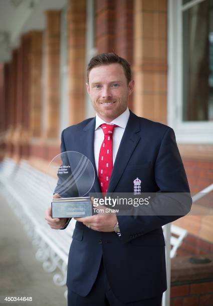 Ian Bell of England poses with the Mens Cricketer of the Year Award during the England Cricketer of the Year Award at Lord's Cricket Ground on June 9...