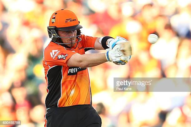 Ian Bell of the Scorchers bats during the Big Bash League between the Perth Scorchers and Adelaide Strikers at WACA on December 23 2016 in Perth...