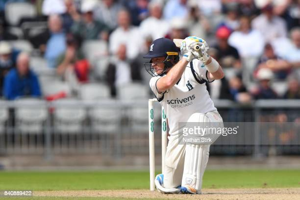 Ian Bell of Warwickshire batting during the County Championship Division One match between Lancashire and Warwickshire at Old Trafford on August 30...