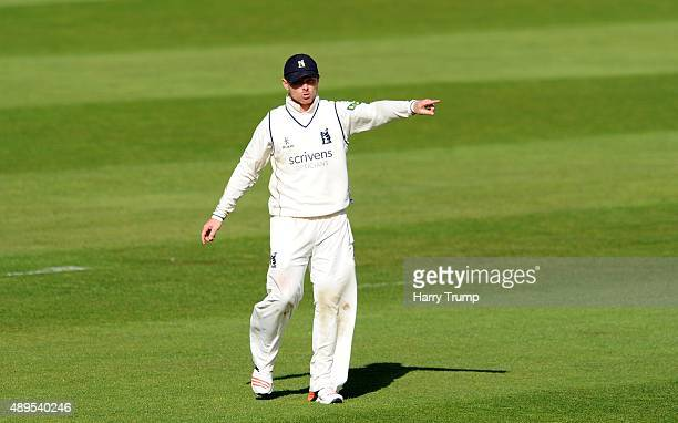 Ian Bell of Warwickshire points during the LV County Championship match between Somerset and Warwickshire at the County Ground on September 22 2015...