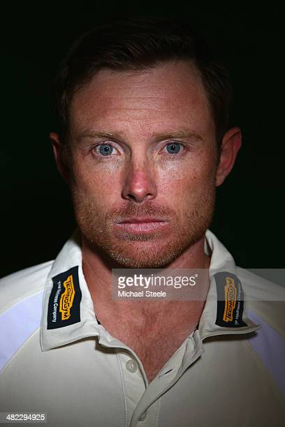 Ian Bell of Warwickshire poses for a portrait during the Warwickshire CCC photocall at Edgbaston on April 3 2014 in Birmingham England