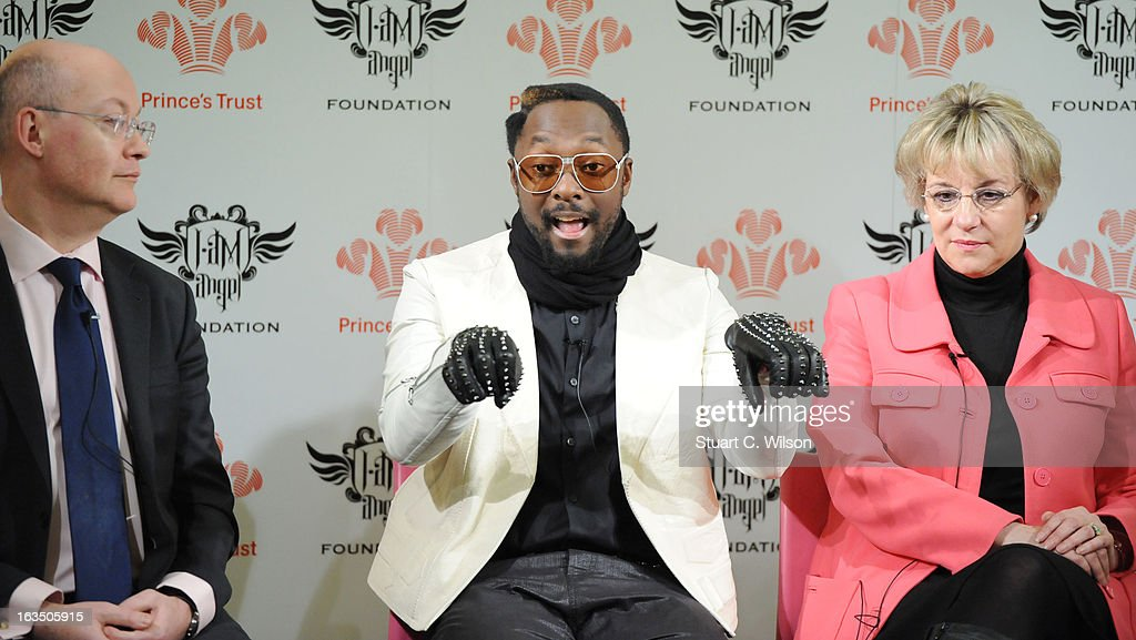 Ian Blatchford, Will.i.am and Martina Milburn attend a panel discussion at The Science Museum where Will.I.Am announced The Prince's Trust new STEM (Science, Technology, Engineering and Maths) workshops for teens at Science Museum on March 11, 2013 in London, England.