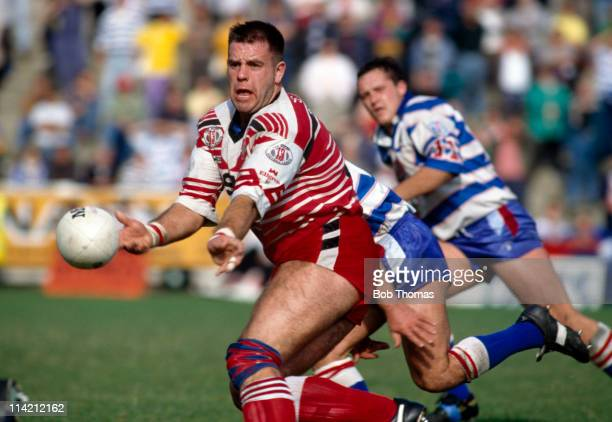 Ian Blease of Salford in action against Halifax during their Stones Bitter Rugby League match at Salford on 20th September 1992 Salford won 2722