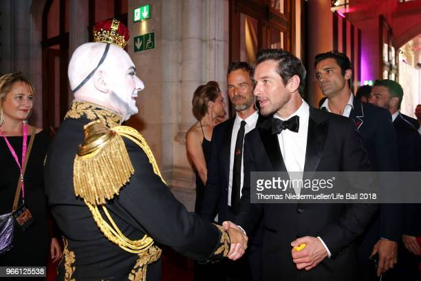 Ian Bohen and Principe Maurice attend the LIFE Solidarity Gala prior to the Life Ball at City Hall on June 2 2018 in Vienna Austria The Life Ball an...