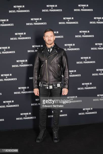 Ian Bohen arrives at Diesel 'Spirit of the Brave' Perfume Launch Party at Salle Wagram on May 21, 2019 in Paris, France.