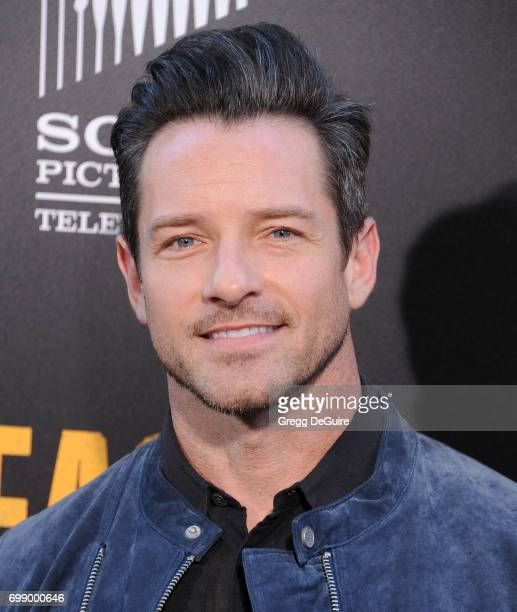 Ian Bohen arrives at the premiere of AMC's 'Preacher' Season 2 at The Theatre at Ace Hotel on June 20 2017 in Los Angeles California