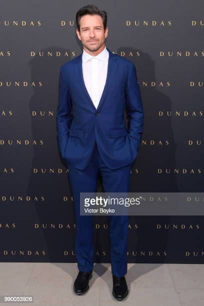 Ian Bohen attends the Dundas Haute Couture Fall Winter 2018/2019 show as part of Paris Fashion Week on July 2 2018 in Paris France