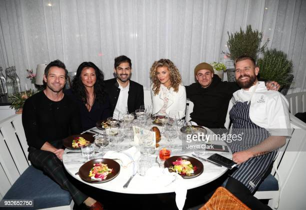 Ian Bohen Kelly Hu Guest AnnaLynne McCord Casper Smart and Nathan Peitso attend the grand opening of FARMHOUSE Los Angeles on March 15 2018 in Los...