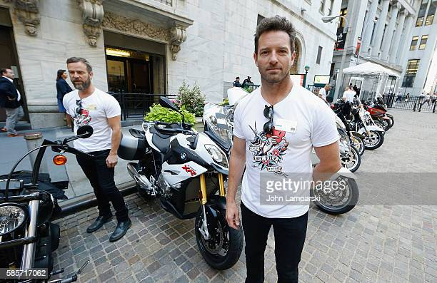 Ian Bohen of Kiehl's and amfAR rings the New York Stock Exchange opening bell in honor of the Kiehl's LifeRide for amfAR at New York Stock Exchange...