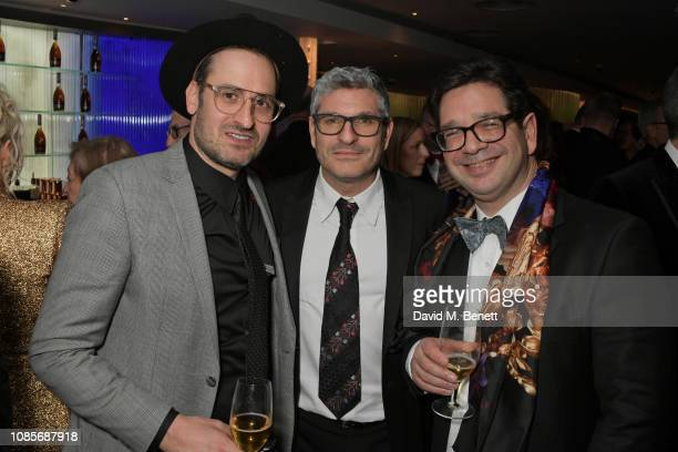 Ian Bonhote Jason Solomon and Peter Ettedgui attend The 39th London Film Critics' Circle Awards at The May Fair Hotel on January 20 2019 in London...