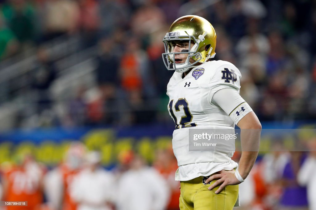 College Football Playoff Semifinal at the Goodyear Cotton Bowl Classic - Clemson v Notre Dame : News Photo