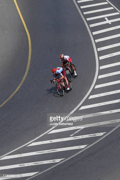 Ian Boswell of The United States and Team Katusha Alpecin / Darwin Atapuma of Colombia and Team Cofidis, Solution Credits / during the 10th Tour of...