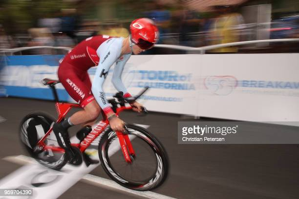 Ian Boswell of the United States riding for Team Katusha Alpecin rides from the start during stage four of the 13th Amgen Tour of California 2018 San...