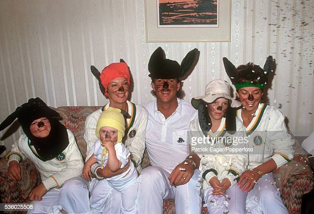 Ian Botham and his family celebrate Christmas in Australia before the 4th Ashes Test match between Australia and England at Melbourne Australia...