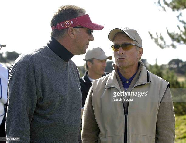 Ian Botham and Michael Douglas during the First Round of the 2005 Dunhill Cup at Carnoustie on September 29 2005