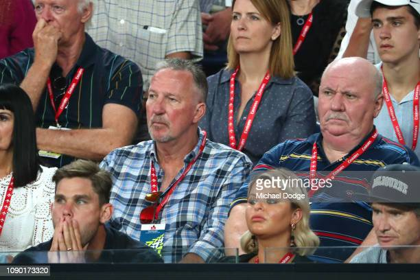 Ian Botham attends the Men's Singles Final match between Novak Djokovic of Serbia and Rafael Nadal of Spain during day 14 of the 2019 Australian Open...