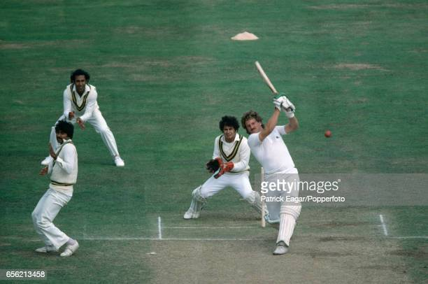 Ian Botham batting for England during his innings of 69 in the 2nd Test match between England and Pakistan at Lord's Cricket Ground London 15th...