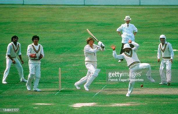 Ian Botham batting Javed Miandad leaps England v Pakistan 2nd Test Lord's Jun 1978