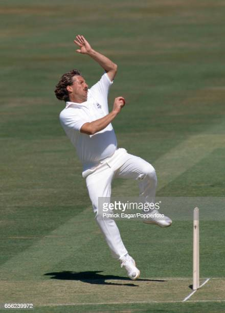Ian Botham bowling for Worcestershire during the Benson and Hedges Cup Final between Lancashire and Worcestershire at Lord's Cricket Ground London...