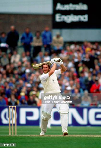 Ian Botham during his 100, England v Australia, 5th Test, Old Trafford, Aug 81.