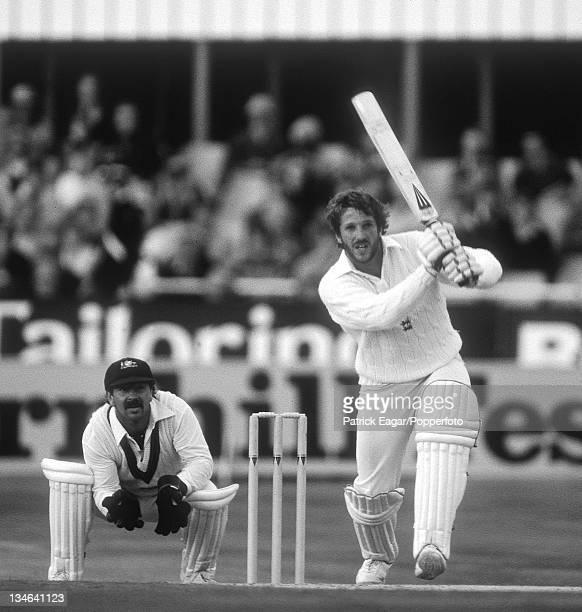 Ian Botham hits out during his 149 Rod Marsh is the wicketkeeper England v Australia 3rd Test Headingley July 1981
