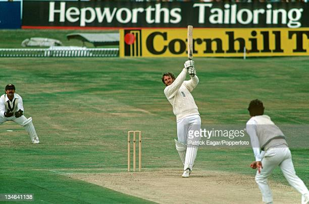 Ian Botham hits Terry Alderman for a boundary during his 149, England v Australia, 3rd Test, Headingley, July 1981.