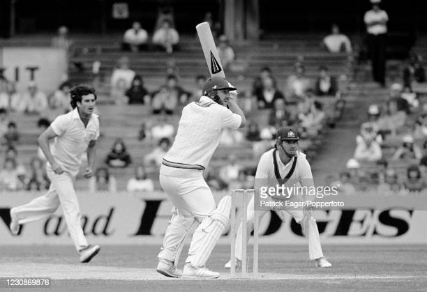 Ian Botham of England batting during his innings of 119 not out in the 3rd Test match between Australia and England at the MCG, Melbourne, Australia,...