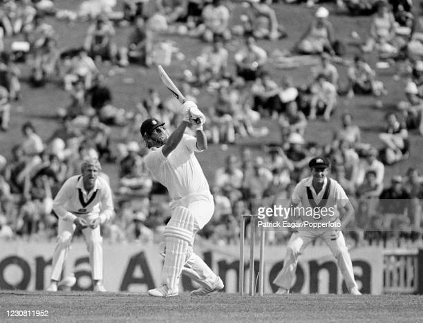 Ian Botham of England batting during the 2nd Test match between Australia and England at the SCG, Sydney, Australia, 4th January 1980. The fielders...