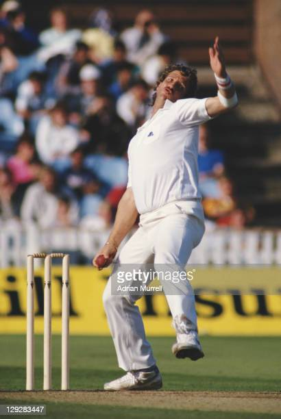 Ian Botham of England bowling during the 1st innings of the Fourth Test between England and Pakistan on 23rd July 1987 at Edgbaston in Birmingham,...