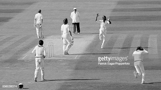 Ian Botham of England is caught off the bowling of Mohsin Kamal of Pakistan during the 3rd Test match between England and Pakistan at Headingley...