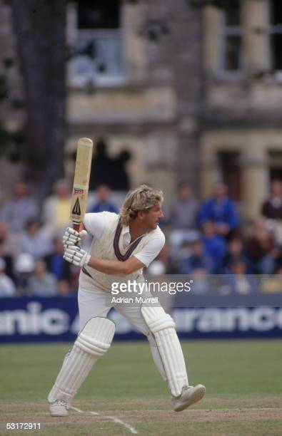 Ian Botham of Somerset in action during the Britannic Assurance County Championship match between Somerset and Worcestershire held on August 4 1986...